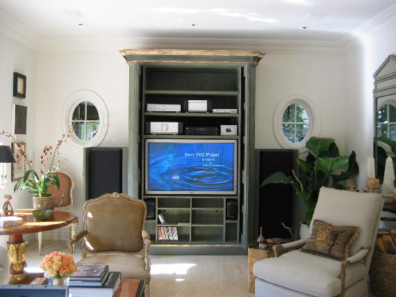 Application: High Performance Musical Fidelity / Vandersteen Stereo Music U0026  HDTV Video System In Custom Cabinet