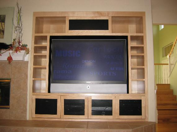 Application: Integrated Home Theatre U0026 Music System In Custom Cabinet